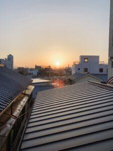 日の出旅館から見える日の出
